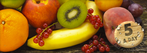 Del Monte Europe suggests to eat 5 portions of fruit daily